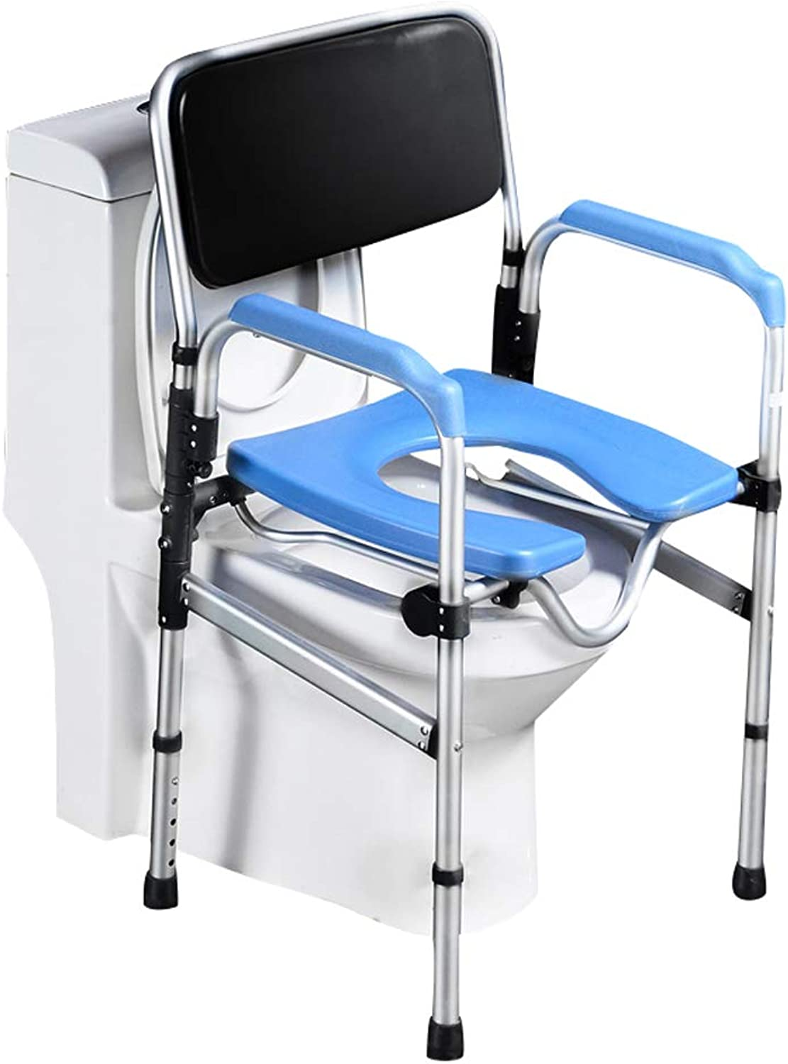 Pebegain Bathroom Folding Toilet Handrail, Elderly, Disabled and Handicap People Safe Anti-Skid Toilet Auxiliary Railing, Comfortable and Convenient Mobile Toilet Stool