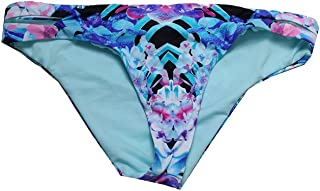 Bar III Womens Hot Tropic Keyhole Hipster Swim Bottom Separates Blue S