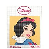 Haberdashery Online Kit Medio Punto para niños, 18 x 15 cms. Colección Princesas Disney...