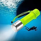 Negro Moligh doll 8000LM 3X XM-L T6 LED Linterna Antorcha Buceo Bajo El Agua 2x18650