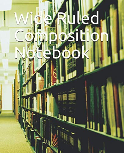 Wide Ruled Composition Notebook: Wallpaper simple cute seamless pattern Vintage Pink flowers on green, Wide ruled Composition paper notebook journal ... college students and teacher boys and girls