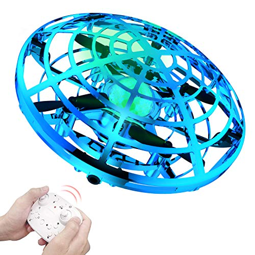 Bbtops Mini Drones for Kids,Flying Ball with 2 Speed Mode and 3 Colors Night-Lights Flying Toys Remote-Control Interactive Toys Rechargeable UFO Toys for Boys and Girls