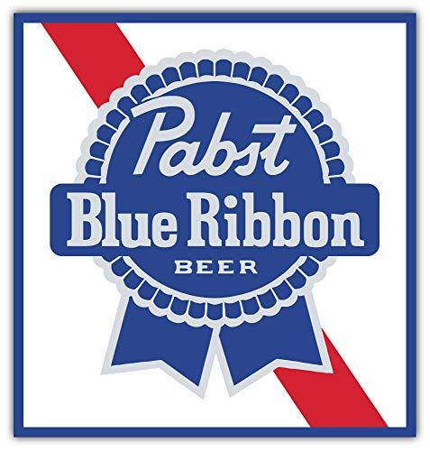qualityprint Pabst Blue Ribbon Logo Decor Vinyl Sticker 12'' X 12''