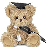 Bearington Ken Grats Class of 2021 Graduation Plush Stuffed Anmal Teddy Bear in Black Cap, 7 Inch