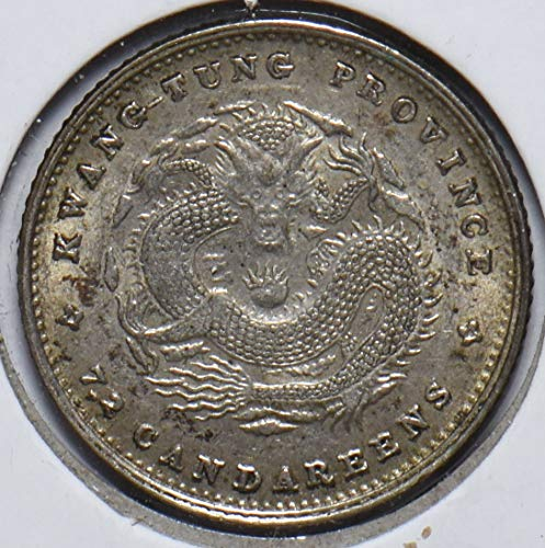 1890 CN China 1890~1908 10 Cents Dragon animal kwang-tung 490174 DE PO-01