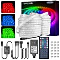 LED Rope Light Outdoor, Novostella 105ft Waterproof RGB Strip Lights, Color Changing Dimmable Cuttable Tape Lighting Kit, for Decorative Location Garden Stairs Balcony Party, 24V IP65