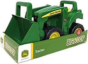 TOMY John Deere Big Scoop Tractor Toy with Loader, 15-Inch, Multi