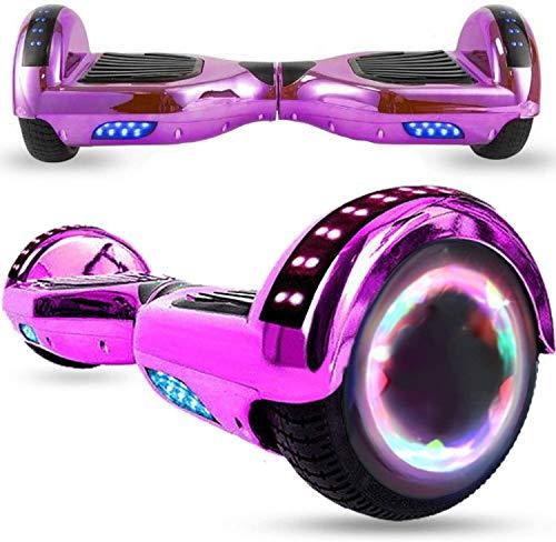 Magic Vida Patinete Eléctrico Overboard Bluetooth Scooter Monopatín Auto-Equilibrio Pacromo púrpuratín (Cromo púrpura)