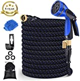 10. MURLONG Garden Hose 100ft Expandable Water Hose with 10 Function Spray Nozzle,Leakproof Lightweight Flexible Water Hose with Solid Brass Fittings,Extra Strength 3750D Durable Gardening Flexible Hose