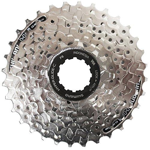 Shimano Kassette - Cassete   piñones para bicicletas (8 velocidades), color gris, talla 11-30