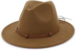 Autumn Winter Sun Hat Women & Men's Fedora Hat Classical Wide Brim Felt Floppy Cloche Cap Imitation Wool Cap XGCCDAUha (Color : Coffee, Size : 56-58)