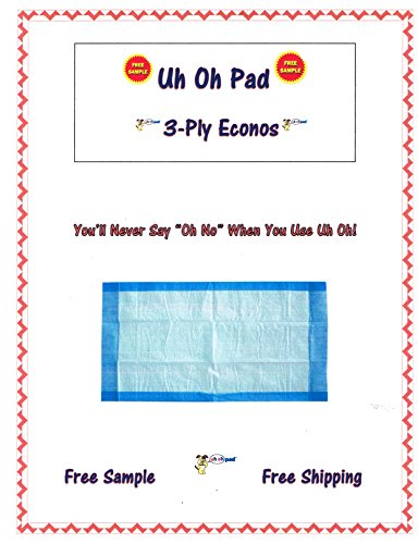 Oops Pad 23x36 300ct 3-Layer Lightweight Puppy Training Pads Dogs up to 30lbs (2cases 150)