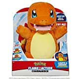 Wicked Cool Toys Pokémon Flame Action Charmander Interactive Plush with Lights and Sounds - Light Up Tail and Mouth - Over 20 Reactions to Discover - Age 4+