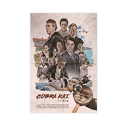 Karate Kid Filmposter Retro Poster Leinwand Wandkunst Dekor Bild Gemälde für Wohnzimmer Schlafzimmer Dekoration 30 × 45 cm