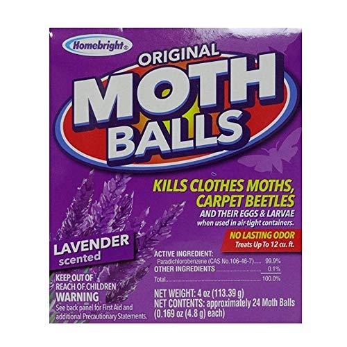 Homebright Original Moth Balls Lavender Scent (Pack of 4)
