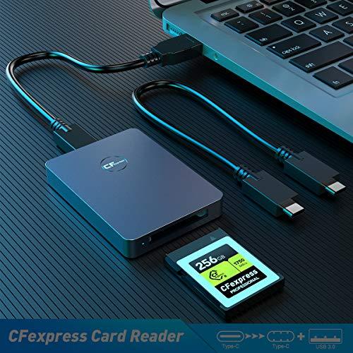 Lector de tarjetas CFexpress Rocketek USB 3.1 Gen 2 10 Gbps, lector CFexpress portátil, adaptador de tarjeta de memoria CFexpress de aluminio,compatible con Android/Windows/Mac OS