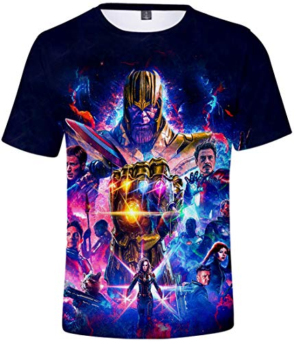 PANOZON Jungen Avengers Endgame Sommer T-Shirt Slim Fit Kurzarm Top Tee für Kinder(Handschuh1681, L)