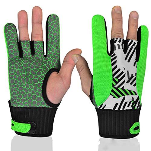 DUDUO-handschoenen Grip Bowling handschoen Bowling bal polssteun,1 paar