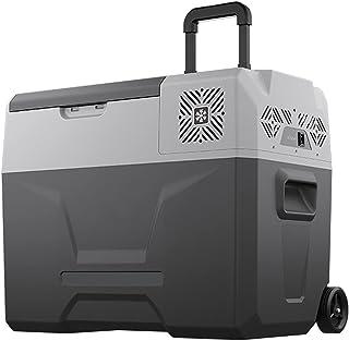 Bil kylskåp-bärbar mini-frys-kompressor kylskåp för camping, fordon, lastbil, husbil, båt, resa, picknick, 12/24v, 100-240...