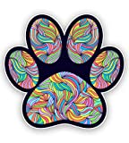 GT Graphics Paw Print Cute Colorful Tangle Design - 8' Vinyl Sticker - for Car Laptop I-Pad - Waterproof Decal
