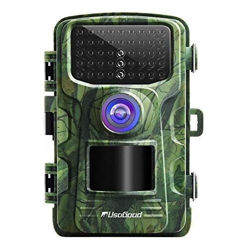 usogood 16MP 1080P Wildkamera mit Bewegungsmelder Nachtsicht Wildtierkamera Zeitraffer Jagdkamera Infrarot Überwachung mit 940nm IR LEDs, wasserdichte IP66, 2,4