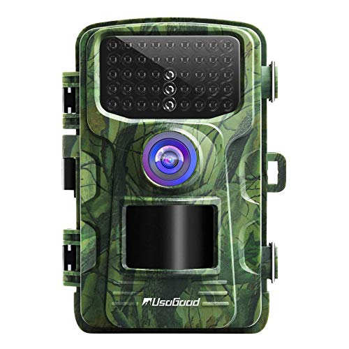 usogood Cámara de Caza 20MP 1080P Cámara de vigilància de la Vida Silvestre Nocturna Impermeable IP66 Cámara de Fototrampeo con Detección de Acción LED IR de 940nm para Seguimiento Cinegético de Fauna