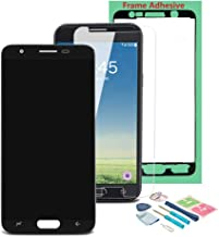 XR MARKET Compatible Samsung Galaxy J337 Screen Replacement, LCD Display Touch Screen Digitizer Assembly Part for J3 2018 J3 Star J337T AMP Prime 3 J337AZ + Frame Tape + Screen Protecotr(Black)