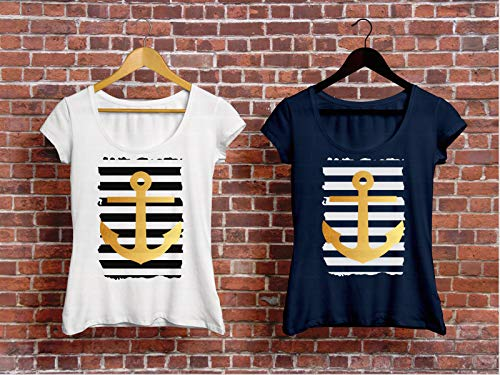 Maritimes Damen T-Shirt mit Anker Print