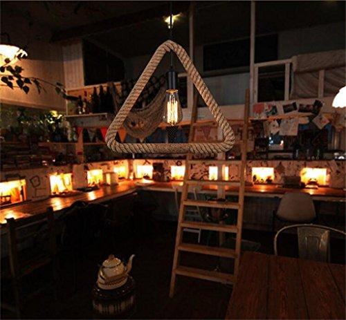 Cdbl -Deckenleuchte Amerikanisches Land schmiedeeiserne Kronleuchter europäischen Industriehanf Wind kreative Restaurant Stehtisch Kronleuchter Deckenleuchten (form : Dreieck)