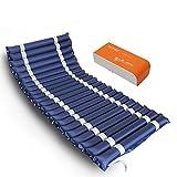 NLHPB Especial antiescaras de Aire Medicinal colchón Inflable Bomba-Incluir Silencio (Azul) masajeador de pies