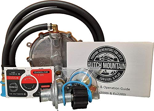 Hutch Mountain Compatible with Honda EU3000is Natural Gas, Propane, Gasoline tri Fuel Conversion kit eui