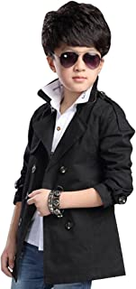 [FERE8890] 男の子 コート カジュアル ウインドブレーカ キッズ ジャケット 可愛い トップス 児童 Vネック 折り襟 ベルト付き