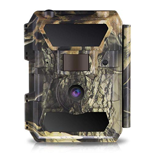WingHome Trail Camera, 12/16/22MP 1080P Game Camera with Night Vision No Glow, 0.4s Trigger Time Outdoor Wildlife Camera Motion Activated Waterproof, 58pcs IR LEDs Infrared Hunting Camera