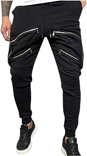 Uomo Casual Slim Skinny Fit Stretch Pantaloni Denim Effetto Invecchiato Strappato Pantaloni Jeans