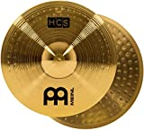 "Meinl 14"" Hihat (Hi Hat) Cymbal Pair – HCS Traditional Finish Brass for Drum Set, Made In Germany, 2-YEAR..."