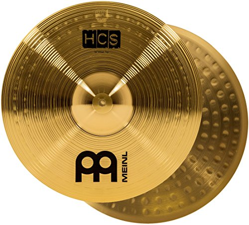 Meinl 14 Hihat (Hi Hat) Cymbal Pair  HCS Traditional Finish Brass for Drum Set, Made In Germany, 2-YEAR WARRANTY (HCS14H)