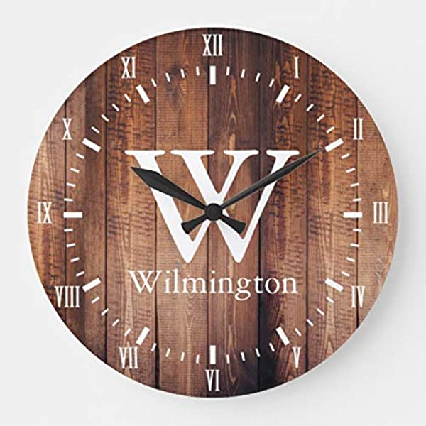 FabricMCC Personalized Family Name Clock Monogram Clock Gift For Couples Wedding Clock Anniversary Clock Personalized Clock Custom Clock