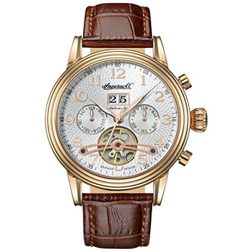 Ingersoll Herren Analog Automatik Uhr mit Leder Armband IN2001RWH