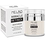 Retinol Moisturizer Cream, niceEshop(TM) Majestic Pure Retinol Cream for Face and Eye, Anti Aging Formula Reduces Wrinkles and Fine Lines,with 2.5% Active Retinol, Hyaluronic Acid, Vitamin E
