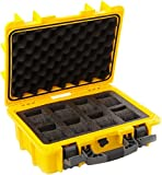 New Invicta 8 Eight Slot Impact Yellow Dive Collector Box Case Dc8yel