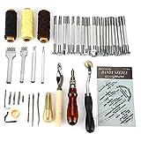 Herramientas para tallar R SODIAL conjunto de 20 piezas herramientas de trabajo de talla de cuero de sellos para fabricacion