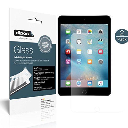 dipos I 2X Panzerfolie matt kompatibel mit Apple iPad Mini 4 Schutzfolie 9H Bildschirmschutz-Folie