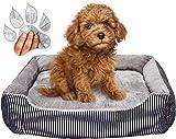 Cama para perros mediano-grande 70 x 51 x 13 cm Camas para perros Anti Masticar Calmante Elevado Perro Ansiedad Alivio Gris Sofá Cama Almohada