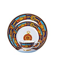 食器セット食器セラミック手描き西洋風ステーキ皿スナックボウルカップセット4個