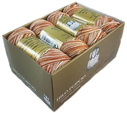 ▷ Pack de 8 Zepelines Ne 5/2 Color Marrón 31 Multicolor de Algodón perlé 100% egipcio...