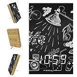 Anmarco Sveglie Happy Life LED Digitali Orologi per Ufficio Cucina Soggiorno Camera Da Letto Desktop con Ricarica USB