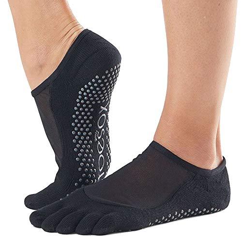 Toesox Luna Yoga & Pilates - Calcetines unisex, Unisex, calcetines con agarre para Yoga y Pilates, YTOEWTLUNABLACK-M, negro, M