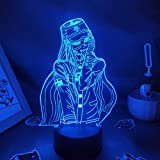 Luz nocturna 3D Danganronpa 3D LED Anime Figura Sheguji Korekiyo Luz nocturna divertida regalo amigo Game Lava lámpara dormitorio mesita de noche decoración ASQWZX