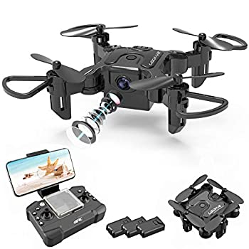 4DRC Mini Drone with 720P Camera for Kids,FPV HD Live Video RC Quadcopter Helicopter for Beginners,Toys Gifts for Boys Girl,One Key Return,Headless Mode,Trajectory Flight,3D Flips,3 Batteries