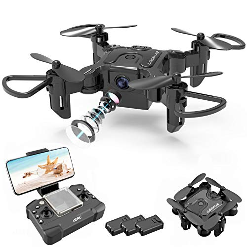 4DRC Mini Drone with 720p Camera for Kids and Adults, FPV V2 Drone Beginners RC Foldable Live Video Quadcopter,App Control,3D Flips and Headless Mode,One Key Return,Altitude Hold,3 Modular Battery